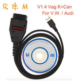 better than VCDS VAG K+CAN VAG K CAN + mini vci for toyota tis techstream super VAG K CAN Commander 1.4 For V.W./Audi/toyota - Car Diagnostic Tool