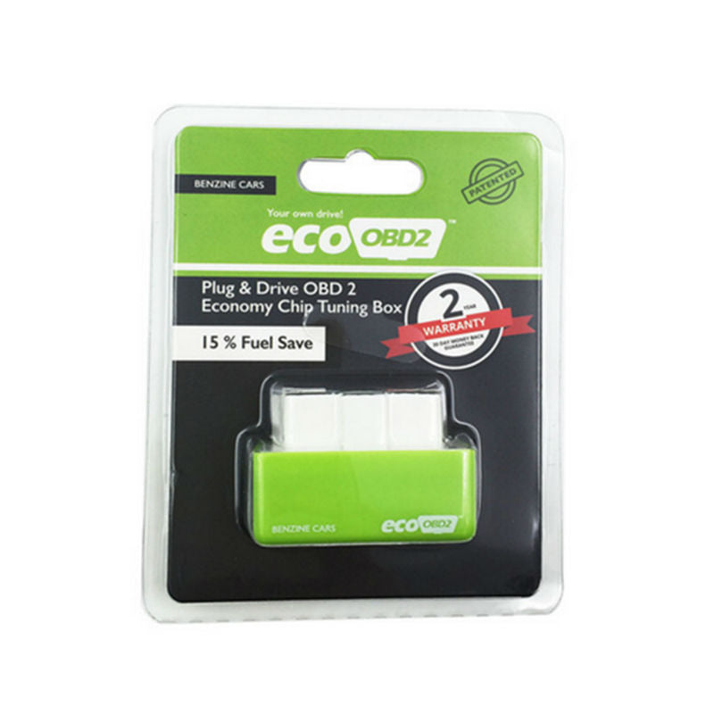 Green EcoOBD2 Economy Chip Tuning Box OBD Car Fuel Saver for Benzine
