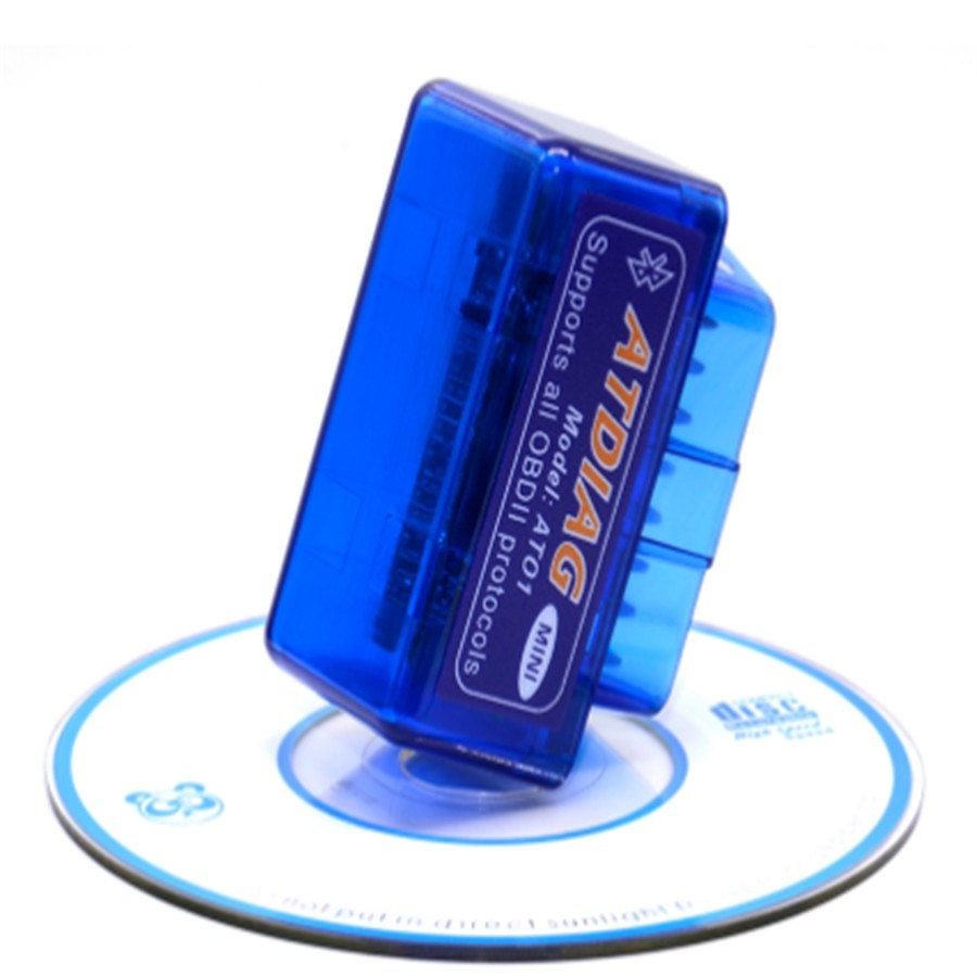 Super Mini ELM327 Bluetooth OBD2 V2.1 White Smart Wireless Scanner