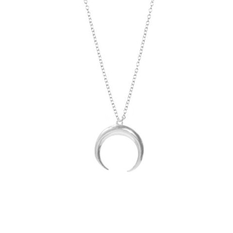 jewelry Crescent horns moon Simple pendant necklace party gift for women girl Collier