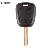 KEYYOU 2 Buttons Remote Key Shell Case For Peugeot Partner Expert Boxer Key Fob Car Key Case Cover With SX9 Blade