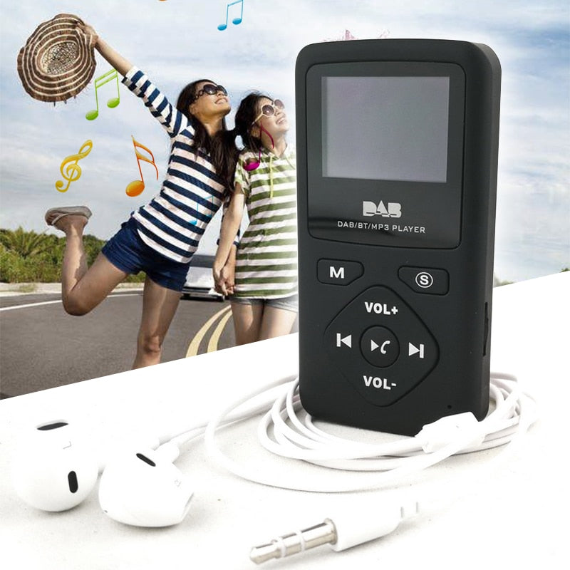 Portable DAB-P7 Digital Radio With Bluetooth & MP3 + Headset