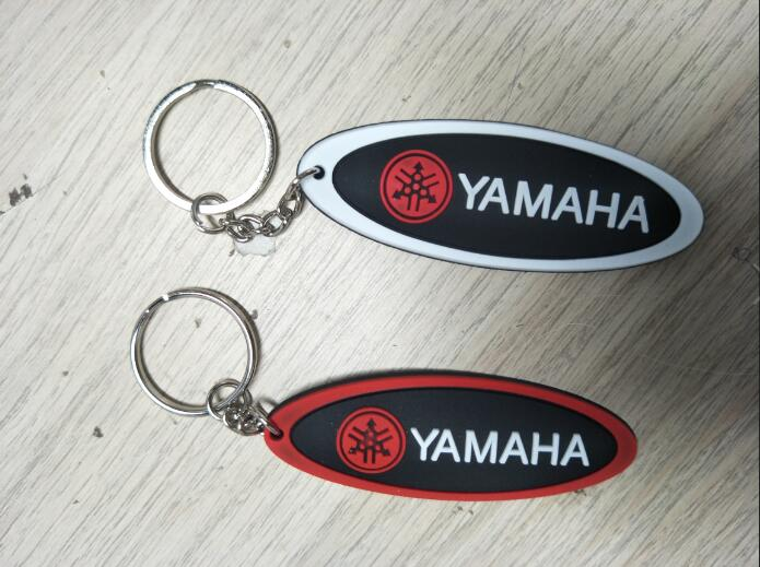 Keyring Keychain Motor Bike Soft Rubber Ring Logo Yam-aha Key Chain