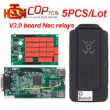 New WoW Cdp TCS cdp pro plus bluetooth v3.0 Nec relays green board v5.008 R2 cars trucks diagnostic scan tool OBD2 auto scanner