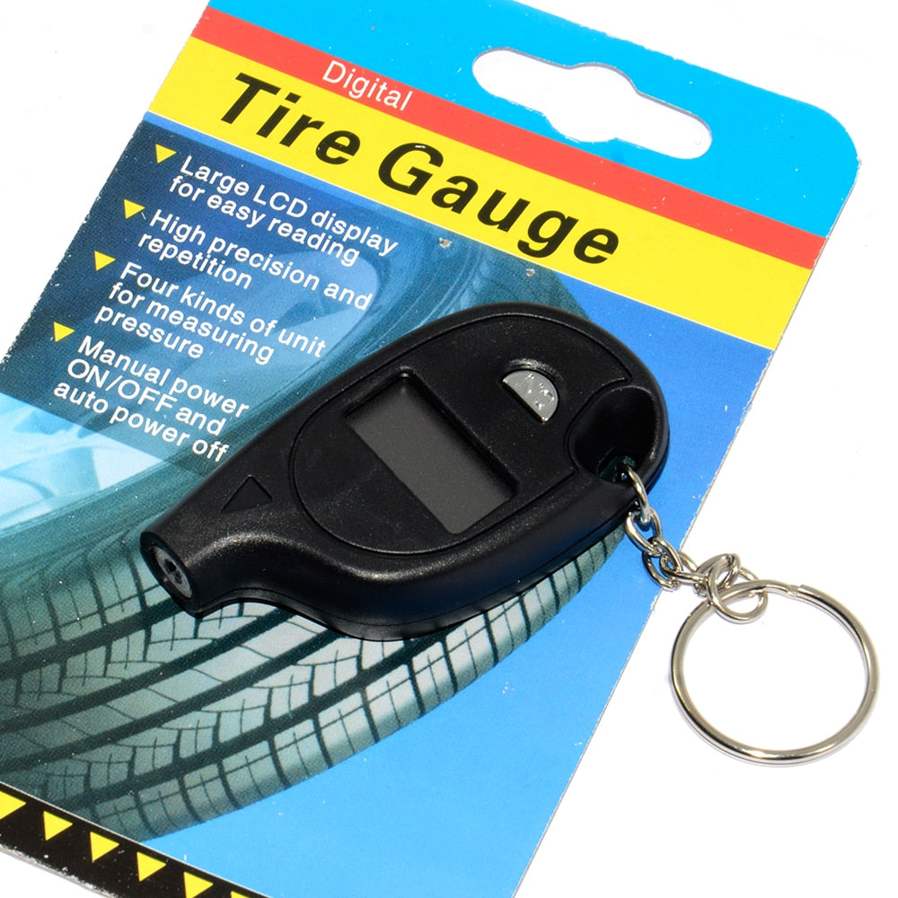 Portable Mini Keychain Digital LCD 2-150 PSI Tire Tyre Wheel Air Pressure Gauge Tester Procession Tool Tire Pressure Monitor