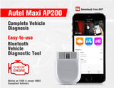 Autel AP200 Bluetooth OBD2 Scan Tool Code Reader Full System Diagnostic Scanner AutoVIN EPB SAS TPMS DPF IMMO PK MK808 easydiag