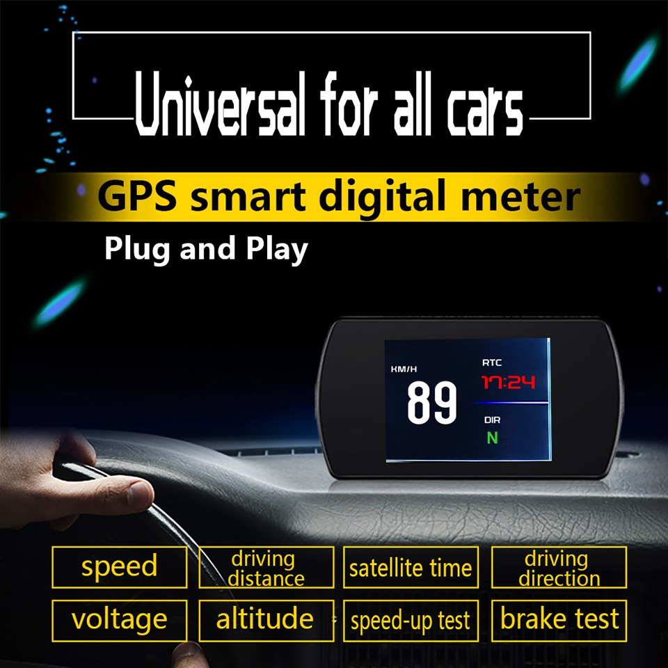 "P12 5.8"" Smart Digital Head Up Display Car HUD OBD2 On-Board Computer"
