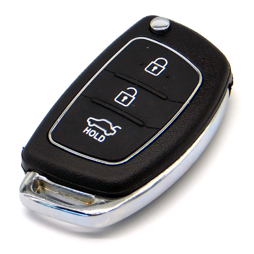3 Button Flip Folding Remote Key Shell Fob Key Case For Hyundai - Car Diagnostic Tool