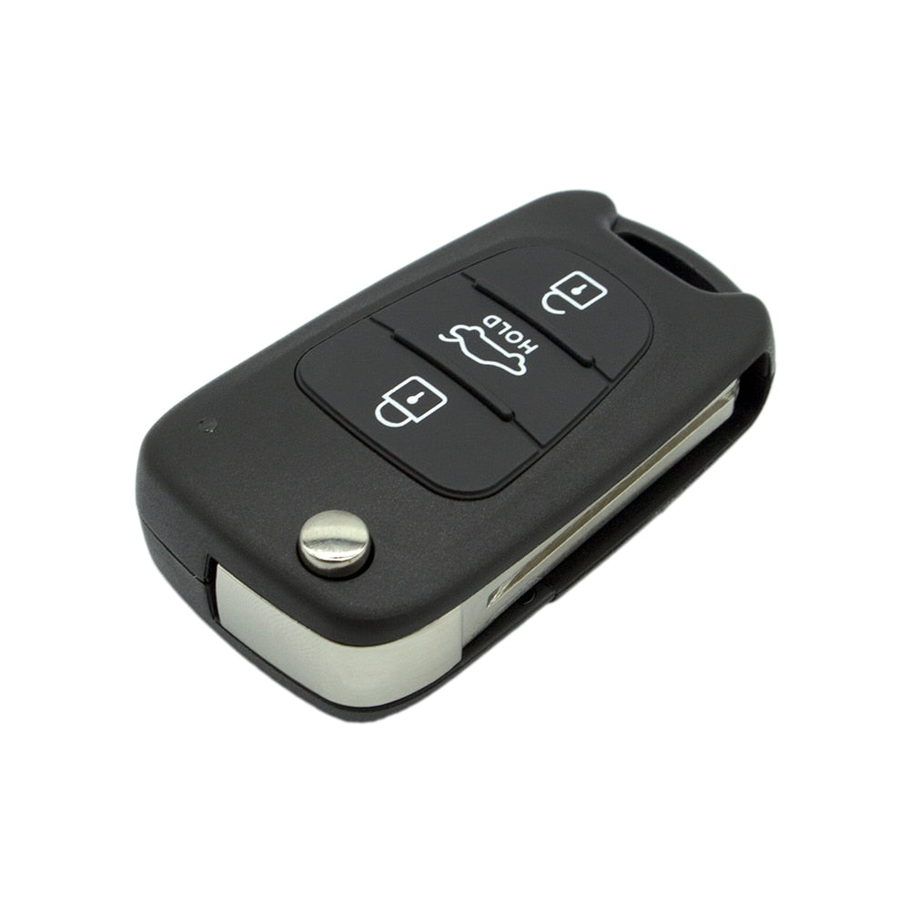 3 Button Remote Folding Flip Key Shell Case For Hyundai Kia - Car Diagnostic Tool