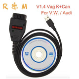 better than VCDS VAG K+CAN For V.W Audi super VAG K CAN Commander 1.4 obd 2 Diagnostic Cable diag via CAN Special function Kline - Car Diagnostic Tool