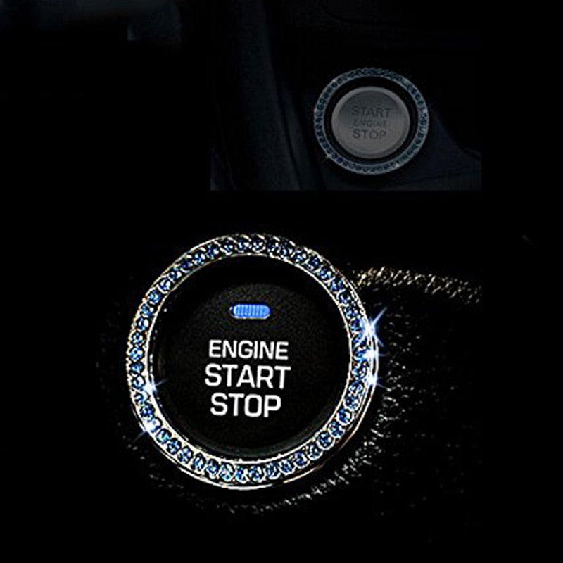 car styling Auto Start Decor Rhinestone Car Engine Start Stop Decoration Interior Ring Decal for Vehicle Ignition Button - Car Diagnostic Tool