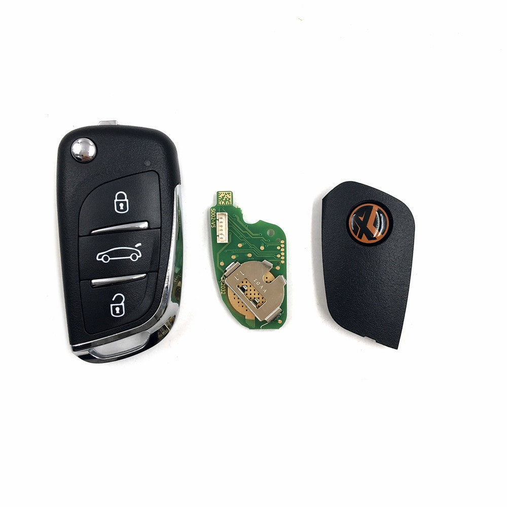 Xhorse VVDI2 English Version Wireless Remotes Key 3 Buttons DS Style