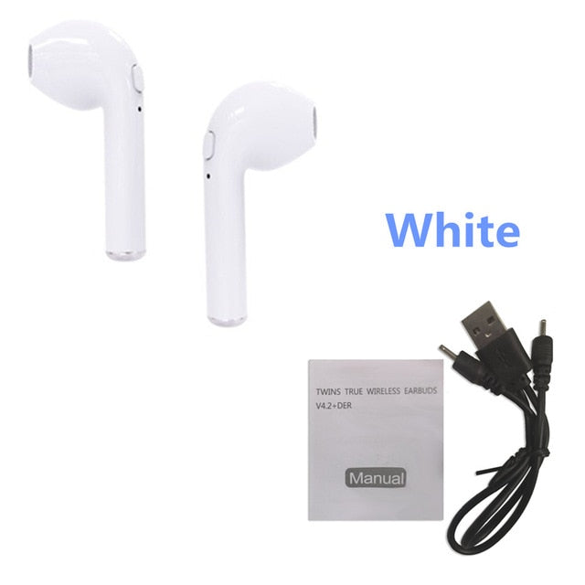 i7s TWS with charger Bluetooth earphone Wireless Headphones Headsets Stereo In-Ear Earphones Box for ios and Android