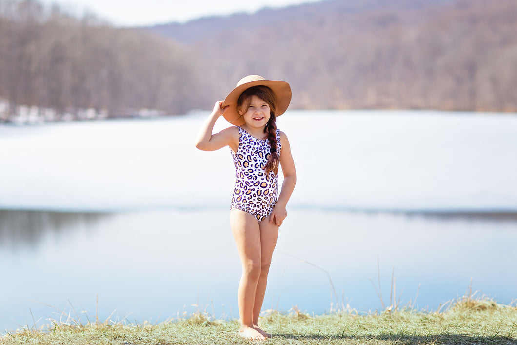 One Piece Cheetah Swimsuit
