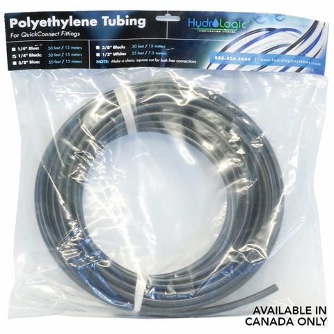 "HYDROLOGIC 1 / 4"" TUBING PACK 50 FT - BLACK"
