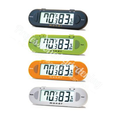 MONDI MINI GREENHOUSE THERMO HYGROMETER ORANGE E100VO  Thermometer