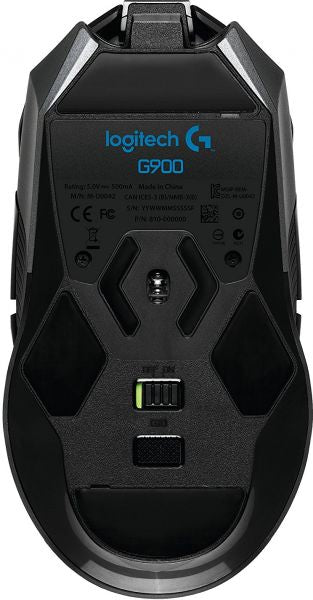 Logitech G900 Chaos Spectrum Professional Grade Wired/Wireless Gaming Mouse - Black 910-004608