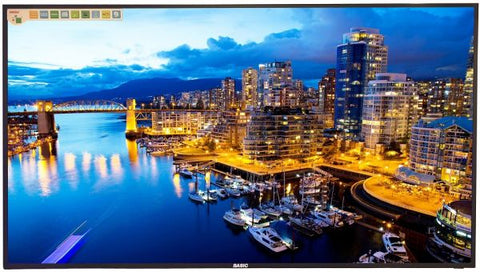 Basic 65 Inch 4K Smart Android LED TV - BC-LED65S4K - Black