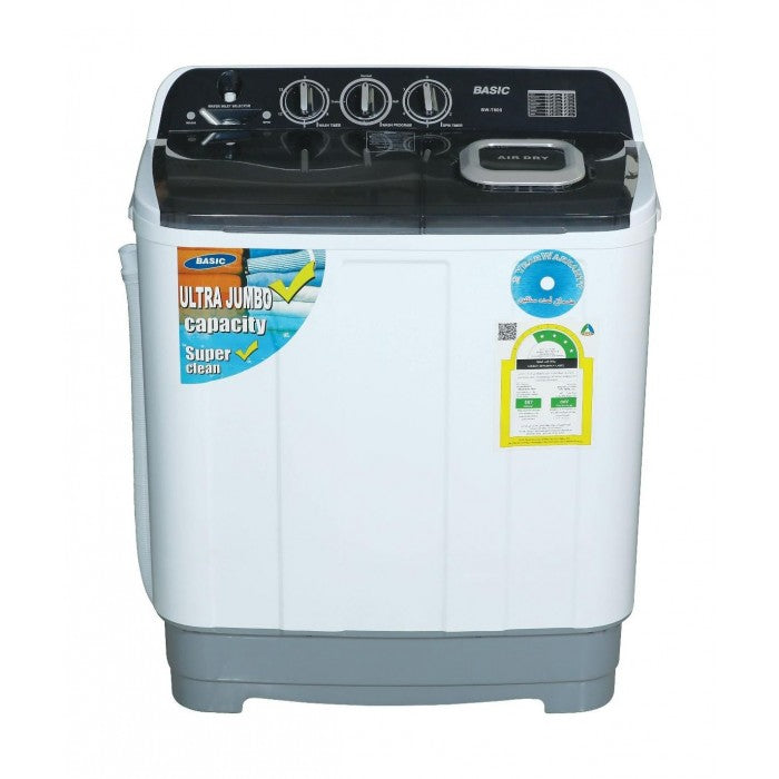 Basic 13KG Twin Tub Washing Machine - White BW-T1300