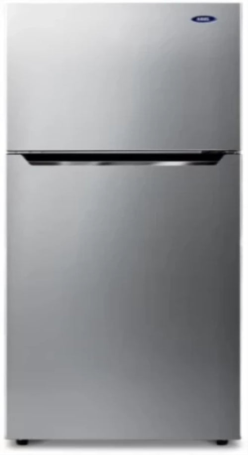 Haas Freezer on Top Refrigerator 11.25 Cubic Feet, Silver - HRK15V6
