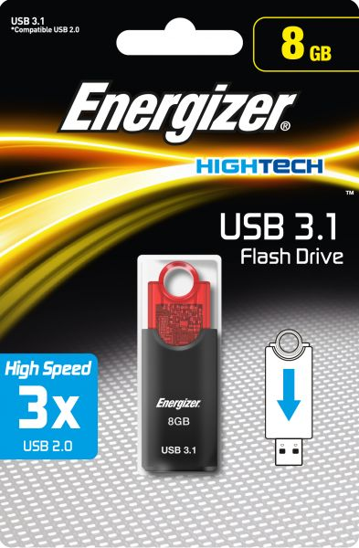 Energizer USB Flash Drive ,Capacity 8 GB , FUS30H008R