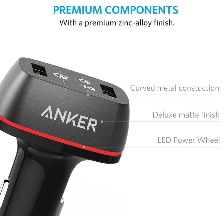 Anker PowerDrive Quick Charge 3.0 Anker 42W 2-Port USB Car Charger - Black