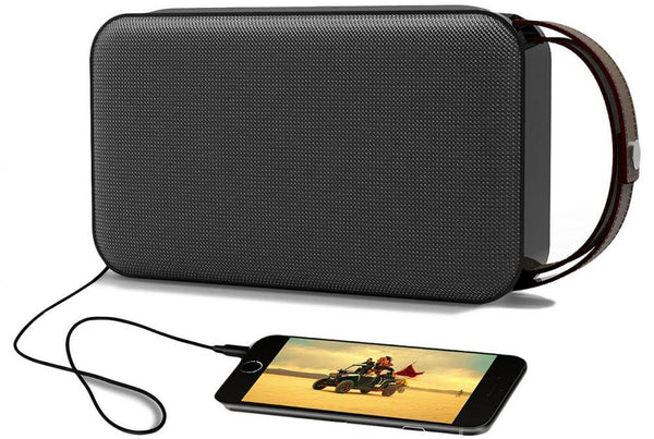 Promate Groove Bluetooth Speaker with AUX,microSD Slot and Built-in Power Bank - Black