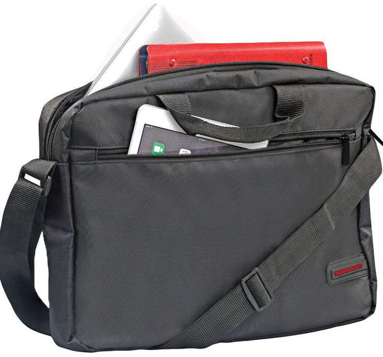 Promate Messenger Bag with Water-Resistance for 15.6-Inch Laptops, MacBook Pro, Asus, HP, Samsung, Gear-MB