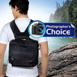 Promate Camera Bag,Compact Hybrid SLR and DSLR Camera Bag with Multiple Pockets for Canon,Nikon,Panasonic,Sony-Linkpak