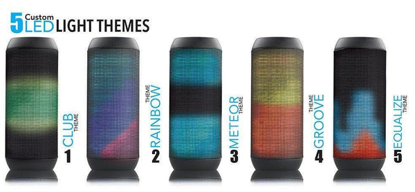 Promate Wireless Bluetooth Portable Stereo Speaker with MP3 Player, AUX, Mic and LED Light - Sense