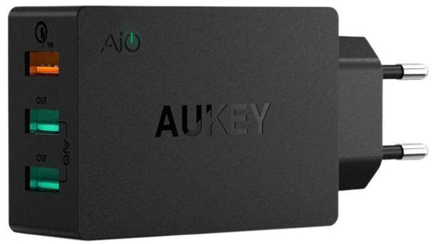 Aukey PA-T14 USB 3-Port Wall Charger with Qualcomm Quick Charge 3.0 For SmartPhones