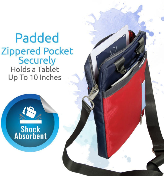 Promate Tablet 10 inch Messenger Shoulder Bag for iPad Air, iPad Mini and Samsung Tab, Promate Dapp-TB