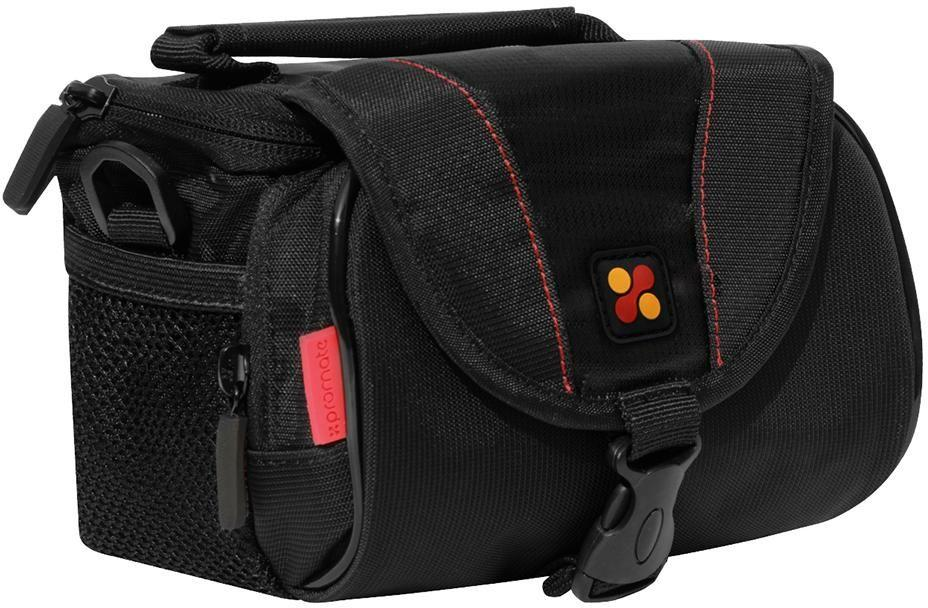 Promate Compact Camera Case with Front Pocket for Canon and Nikon, xPose M - Black