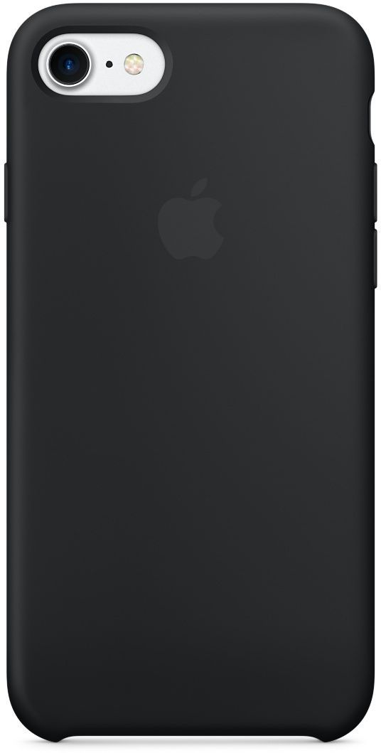 Apple iPhone 7 Silicon Back Cover Case, Black, MMW82ZMA (Apple Phone not included)