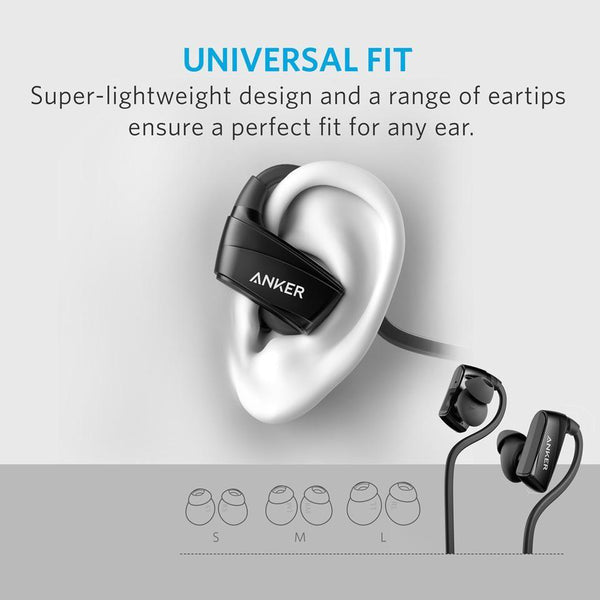 Anker SoundBuds Sport NB10 Bluetooth Headset Sweatproof - Black, A3260011