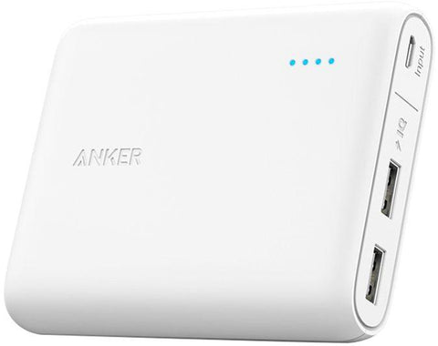 Anker 13000mAh PowerCore 2-Port Ultra Portable Power Bank - White, A1215021