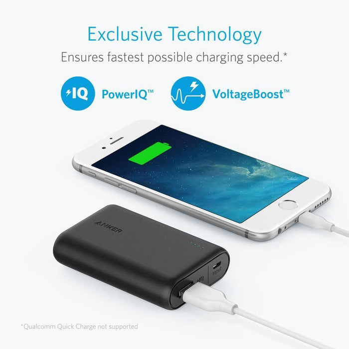 Anker PowerCore 10000 portable charger for Samsung, iPhone, iPad and more Compact Power Bank