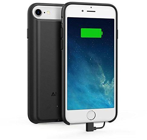 Anker PowerCore Battery Case for iPhone 7 and iPhone 8 , 2200mAh - Black