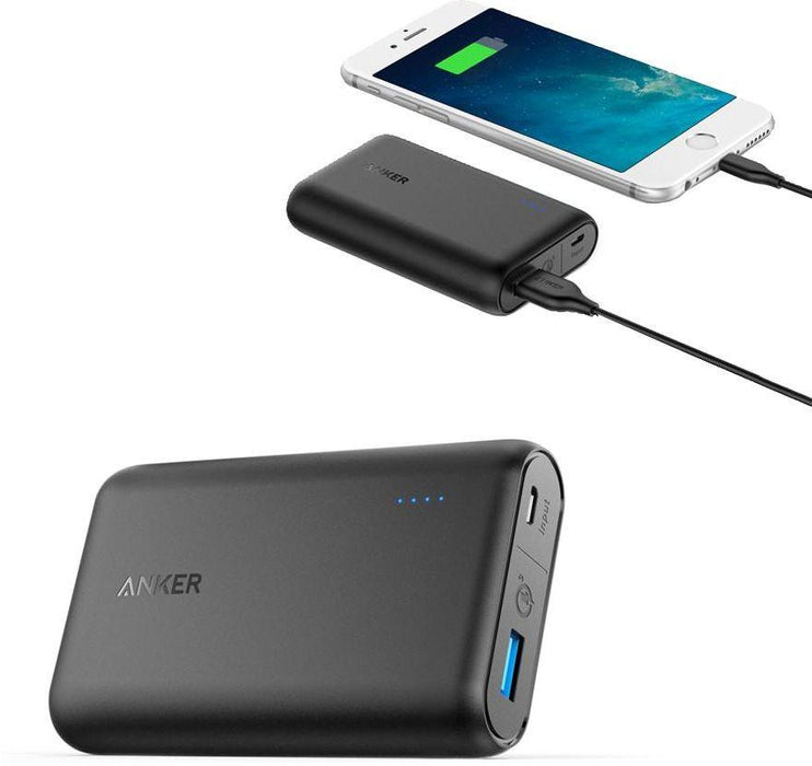 Anker Power Core Speed 10000mAh Power Bank for Mobile Phones, Black - A1266H11