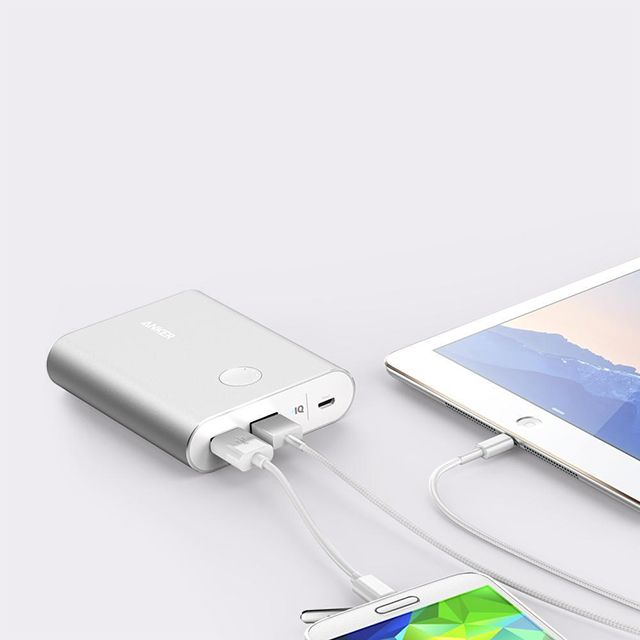 Anker PowerCore+ 13400mAh with Quick Charge 3.0 Power Bank for Mobile Phones, Silver - A1316H41