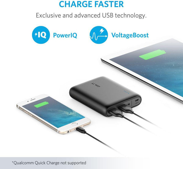 Anker Power Core 13000mAh Power Bank For Mobile Phones - A1215011, Black