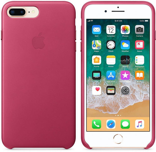 Apple iPhone 8 Plus / 7 Plus Leather Case - Pink Fuchsia, MQHT2ZM/A