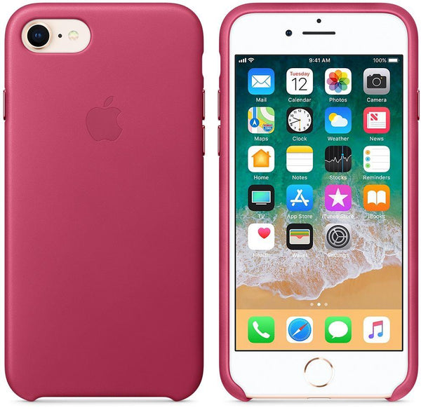 Apple iPhone 8 / 7 Leather Case - Pink Fuchsia, MQHG2ZM/A