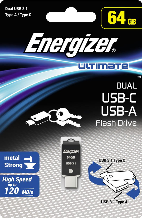 Energizer USB Flash Drive ,Capacity 64 GB , FOTUCU064R