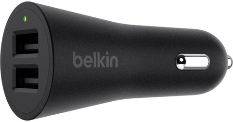 Belkin 24W Dual Car Charger With Cable - Black, F8J221bt04