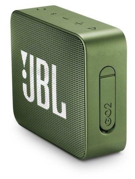 JBL GO 2 Portable Bluetooth Speaker, Moss Green - JBLGO2GRN