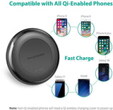 RAVPower iPhone 8 8 Plus X Fast Wireless Chargers QI QC 3.0 Adapter