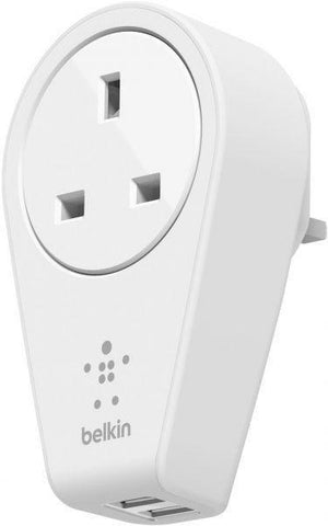 Belkin Boost Up 2-Port Swivel Charger-Outlet,2 USB Port,F8M102