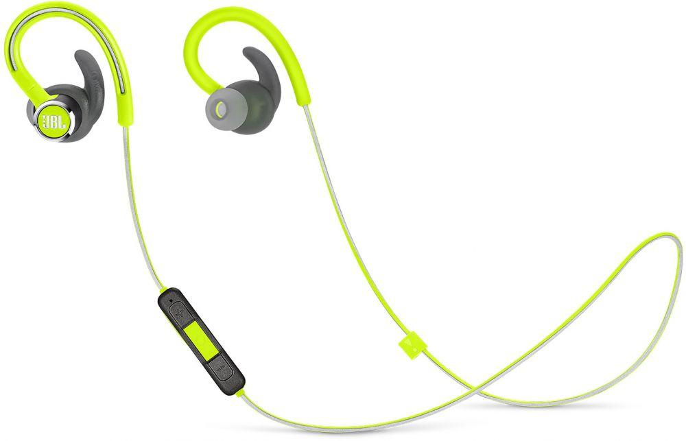JBL Reflect Contour 2 Sweatproof Wireless Sport In-Ear Headphones Green - JBLREFCONTOUR2GRN
