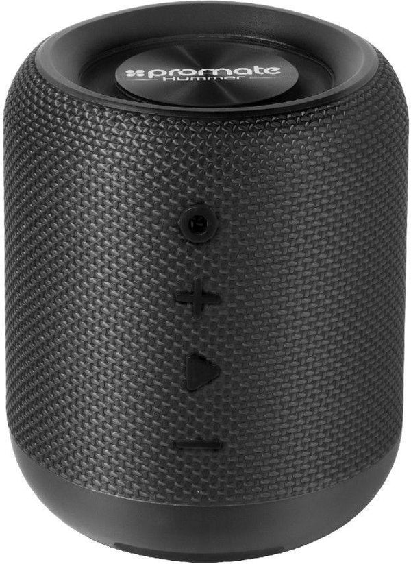 Promate Wireless Speaker, Portable 10W Bluetooth Speaker v4.2 with HD Sound Quality, Built-In Mic, FM Radio, Micro SD Card Slot and Auxiliary Port for Smartphones, Tablets, MP3, Hummer Black